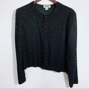 Vintage Mark & John by Gopal Black Sequin Sweater